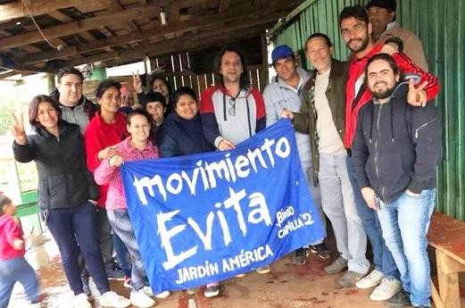 Gildo Onorato con Sereno y militantes