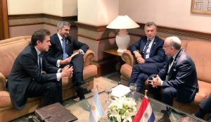 ARGENTINA - PARAGUAY Presidentes de la República Argentina, Don Mauricio Macri, y de la República del Paraguay, Don Mario Abdo Benítez