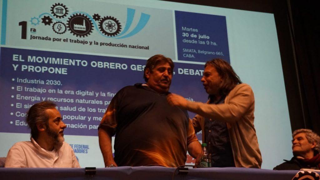 Daniel Ricci Secretario General y Ricardo Pignanelli S.G, Smata