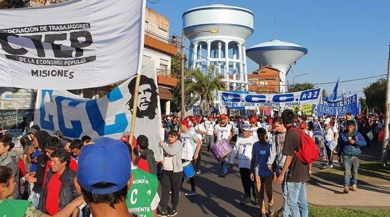 Marcha en el Dia de San Cayetano por Paz, Pan, Techo y Trabajo