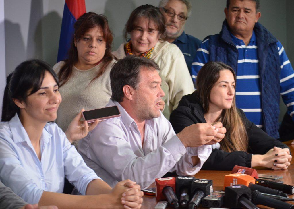Rueda de Prensa del Frente de Todos en el PJ