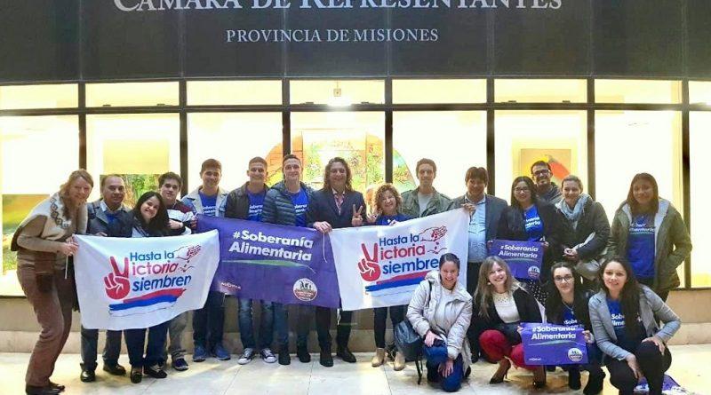 Diputado Martín Sereno, con la ministra de Agricultura Familiar y su equipo de trabajo