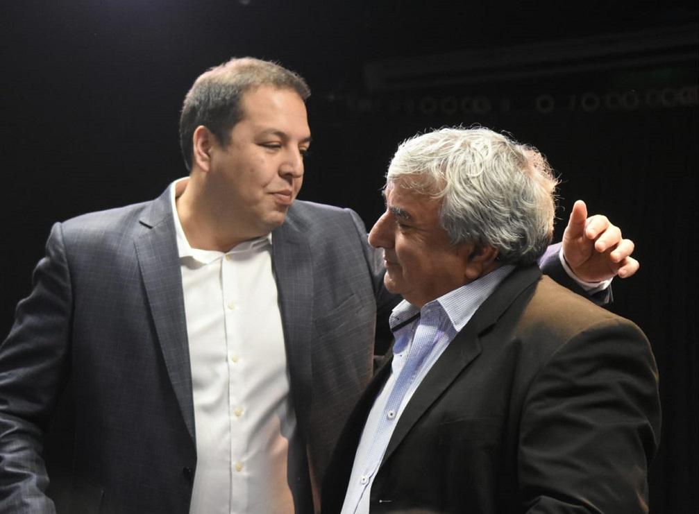 Pablo Flores junto a Guillermo Imbrogno