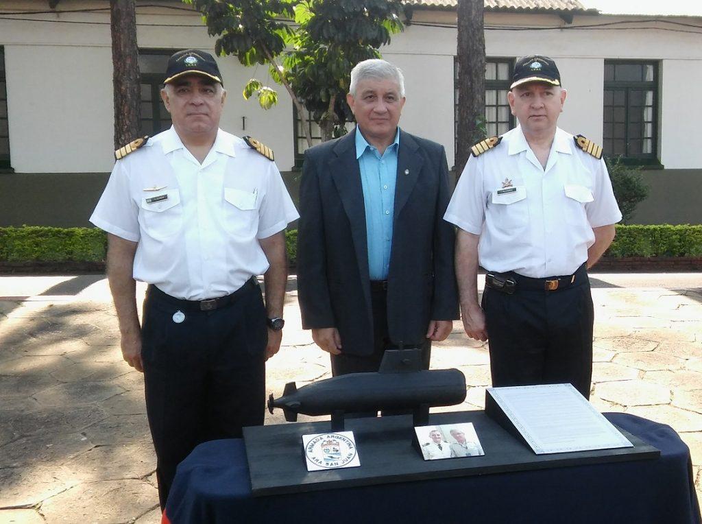 Capitán de Fragata Francisco Pellegrino - Capitán de Navío Héctor Alfonso y Roberto Domingo