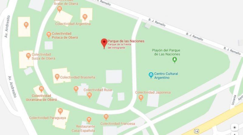 Parque de las Naciones Ubicación