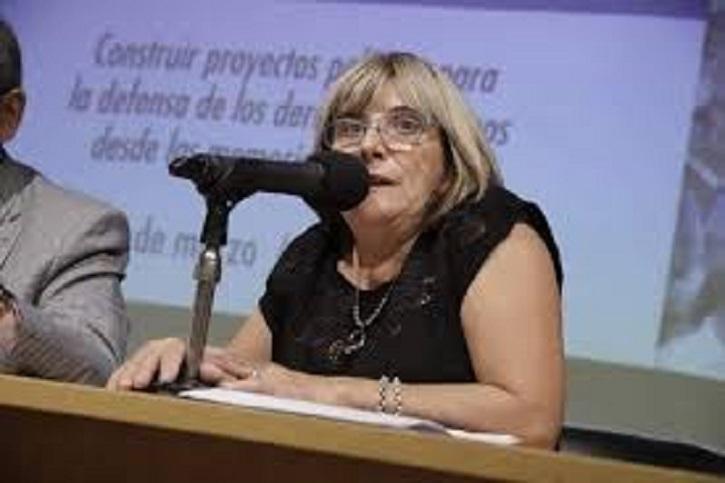 Claudia Ormaechea dirigentes de La Bancaria