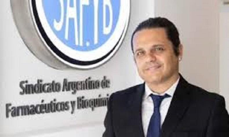 Marcelo Peretta-Secretario General del Sindicato Argentino de Farmacéuticos y Bioquímicos (Safyb)