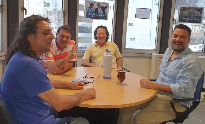 Diputados del PAyS con Daniel Menéndez, de la Subsecretaría de Promoción de la Economía Social