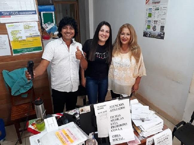 La Delgada Wilma Andino con personal de la Boca de Entrega y Recepción (BER)