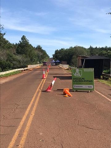 Malas condiciones del puente Cuña Pirú sobre la ruta Provincial 7