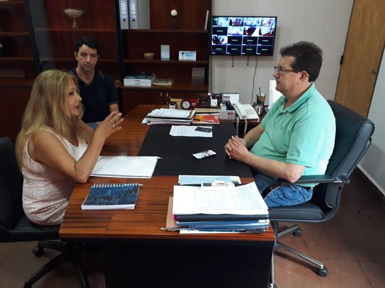 Reunión con el Intendente de la localidad de San Vicente, Sr. Sergio Fabián Rodríguez