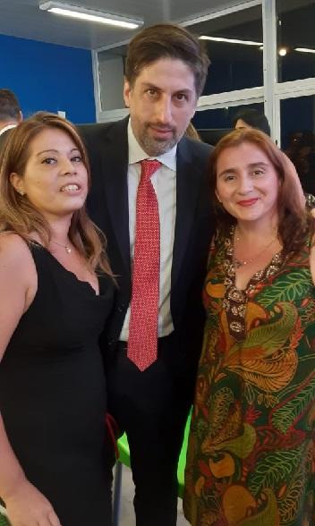 Ministro de la Nac. N. Trotta- Ministra Acc. Coop. Mis. Karina Aguirre- Dip. Prov. R. Franco
