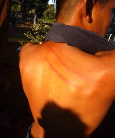 Represión policial en la comunidad mbya guaraní de Peutí