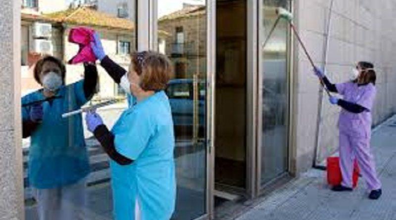 Trabajadores de empresas de limpieza