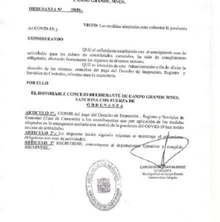 ordenanza Campo Grande