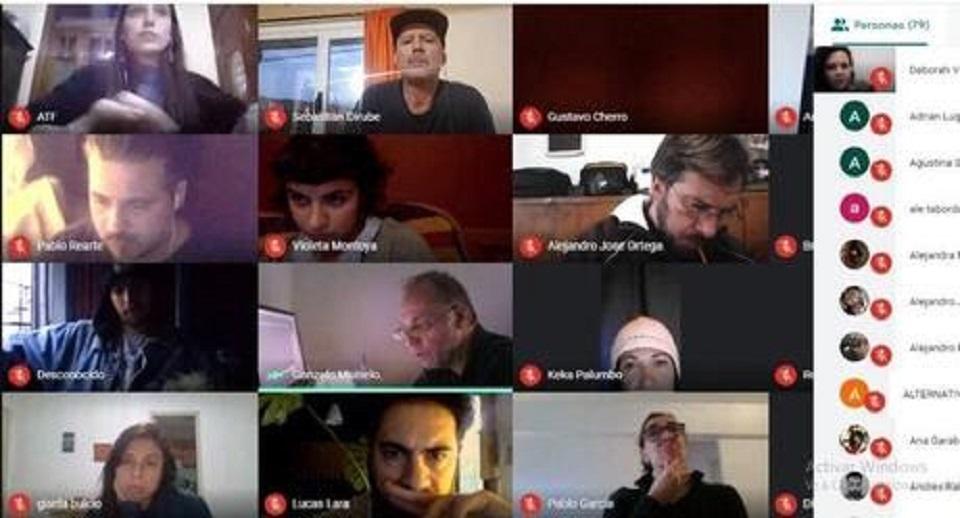 Asamblea virtual realizada con mas de 90 fotógrafos de todas las ramas