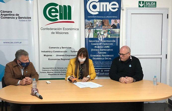 Firma Convenio con la Cámara de Comercio del departamento Libertador General San Martín