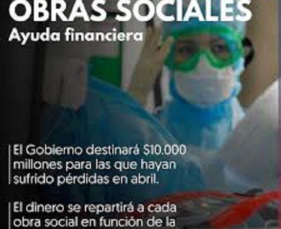 """Obras Sociales """"ayuda financiera de excepción"""""""