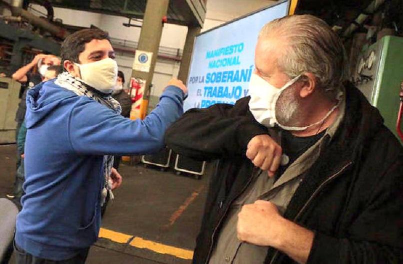El dirigente Esteban Castro participó del lanzamiento en Buenos Aires