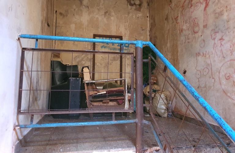 En esta escalera vivía la familia de Carmen, Gustavo y sus hijos
