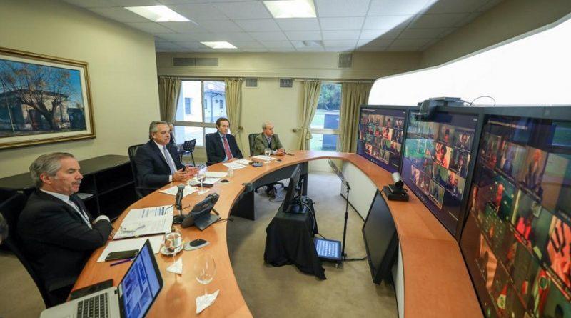 Videoconferencia con líderes de América Latina y el Caribe y España