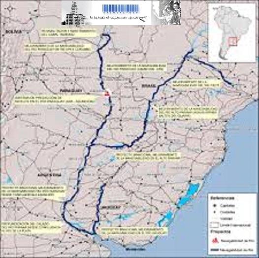Hidrovía- obras de dragado en los ríos Paraná y Paraguay