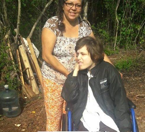 Liliana Acosta,y su hijo Alejandro