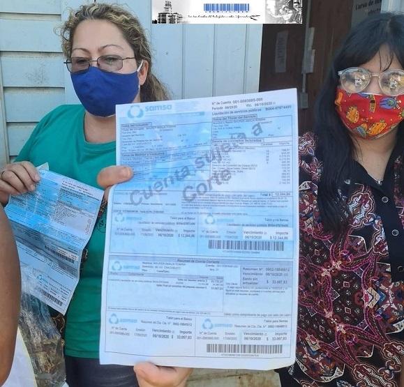 Familias de la chacra 145, Posadas reclaman a SAMSA por facturas con montos impagables