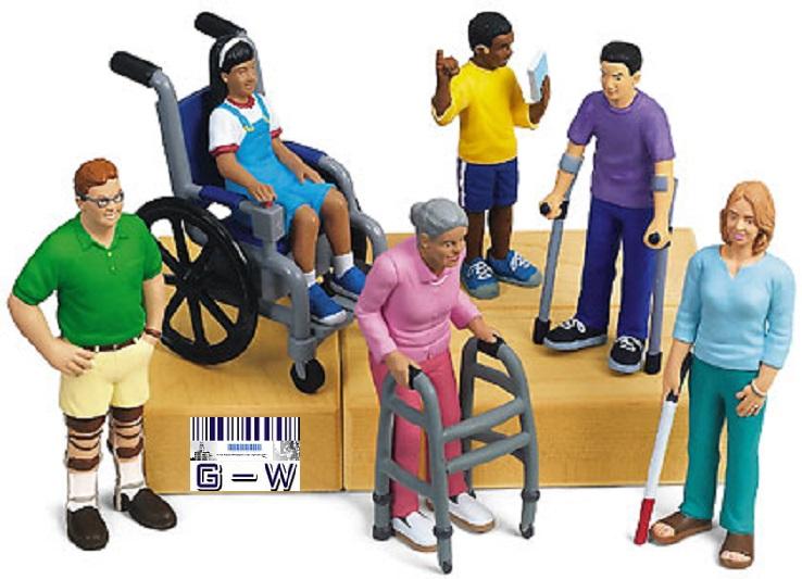 Trabajadores con discapacidad varias