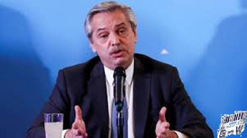 Alberto Fernández Pte. de la República Argentina -Envío de fondos a cientos de obras sociales