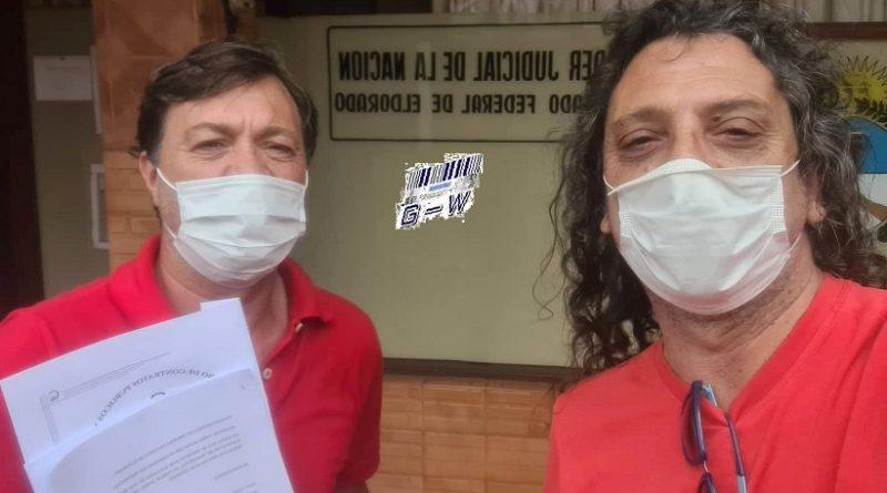 Diputados Nacional, Cacho Bárbaro y Martín Sereno se presentaron al Juzgado Federal