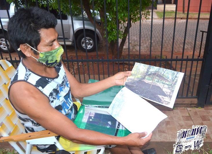 Francisco Silva, cacique de la comunidad Tacuapí Miri pide que se cumpla resolución para la construcción del Aula Satélite