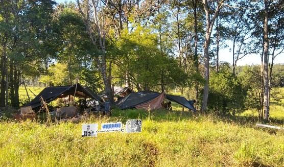 Campamento de trabajadores tareferos en Santa Rita,