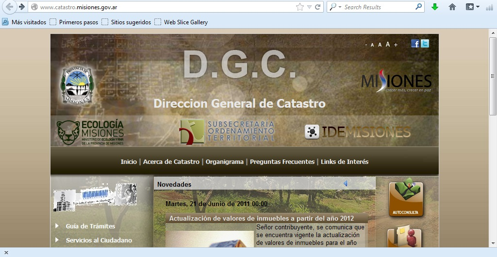 Dirección General de Catastro de la Provincia