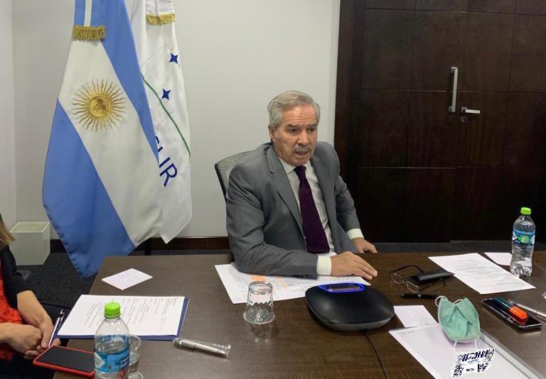 El Canciller Felipe Solá con pares del Mercosur