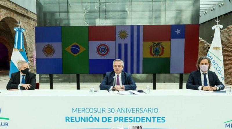 Reunión virtual para conmemorar el 30° aniversario de la firma del Tratado de Asunción por el que se creó el Mercosur