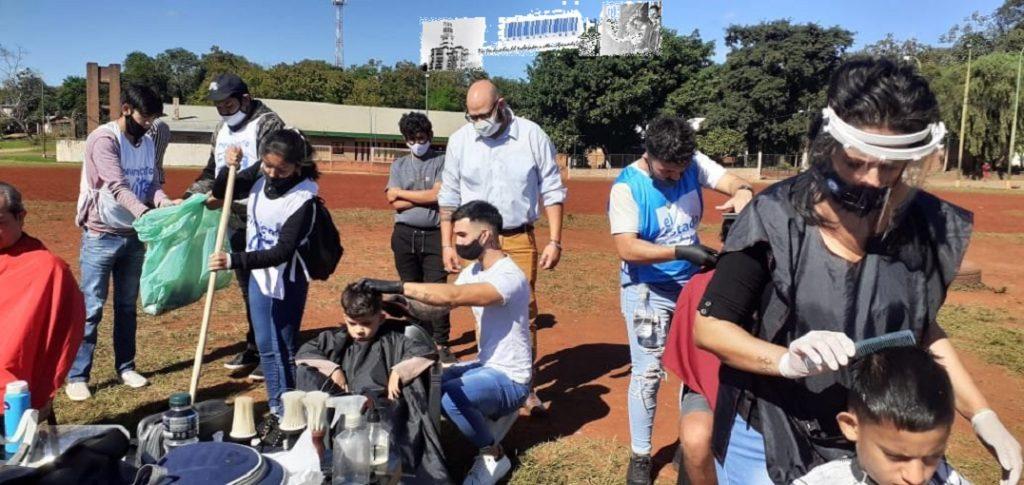 Junto al Programa El Estado en tu Barrio se brindaron servicios de peluquería