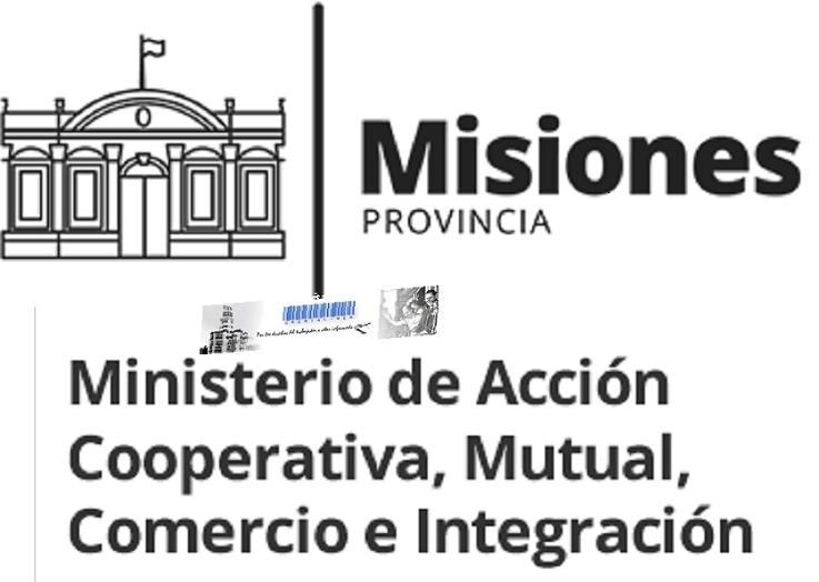 Logo- Ministerio de Acción Cooperativa Mutual, Comercio e Integración