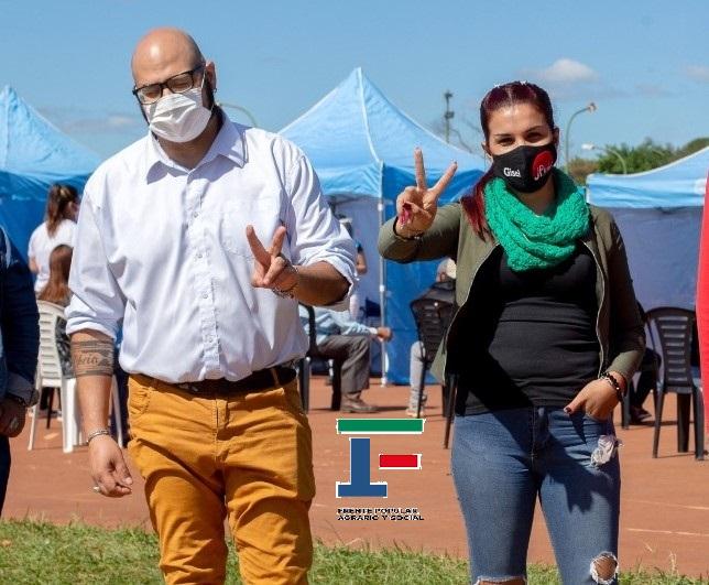 Candidatos a concejales, Richard Mattoso y Gisela Troche, con Adelante Vecinos