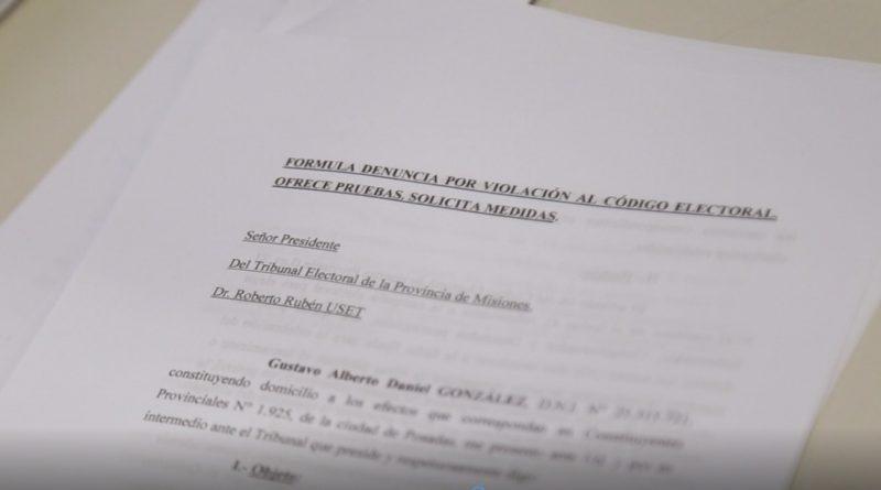 Denuncia ante el Tribunal Electoral de la Provincia de Misiones