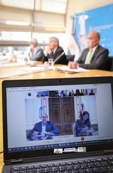 """Encuentro virtual con Gobernadores argentinos """"Programa de Asistencia Diplomática al Interior"""""""