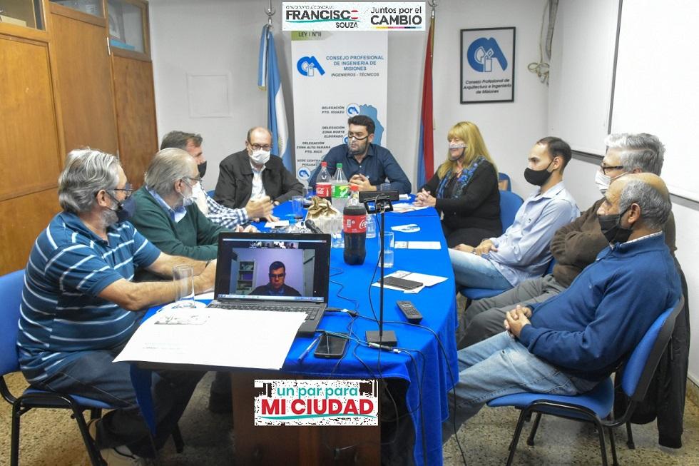 Francisco Souza se reunió con integrantes del Consejo Profesional de Ingeniería