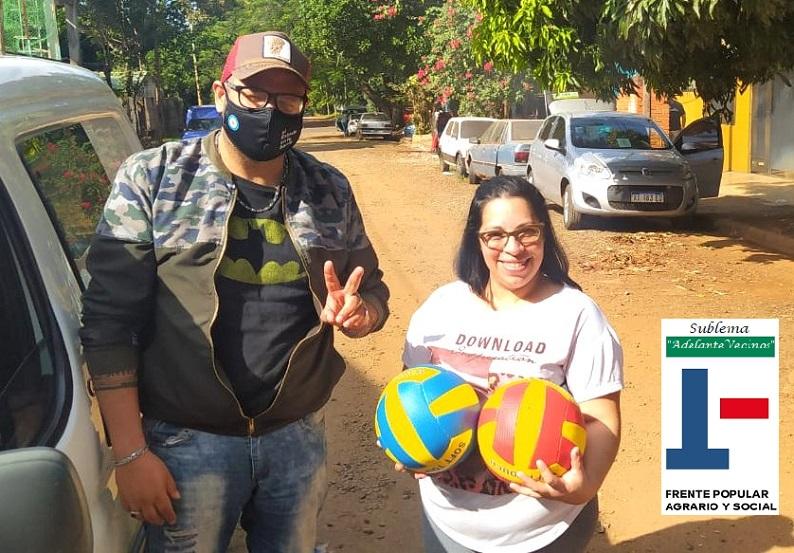 Ricardo Richard Mattoso del Sublema Adelante Vecinos promueve el deporte en los barrios de Posadas
