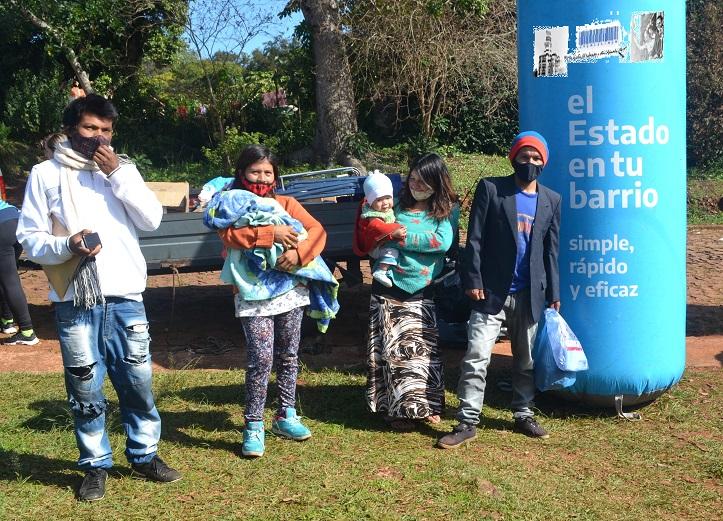 Jóvenes guaraníes resolvieron sus trámites en el Estado en tu Barrio