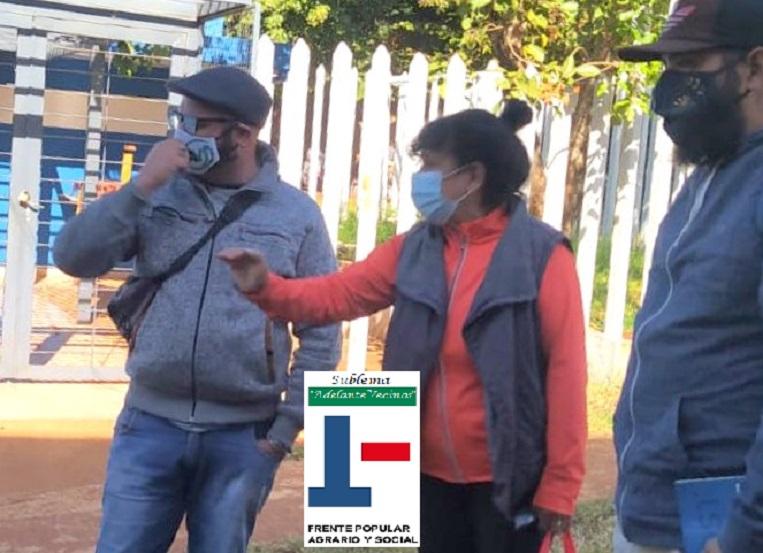 Richard Mattoso, candidato a concejal del sublema Adelante Vecinos, en la chacara 32-33