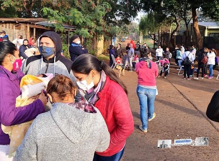 Vecinas y vecinos de la Chacra 246 cortaron las avenidas en reclamo de viviendas dignas