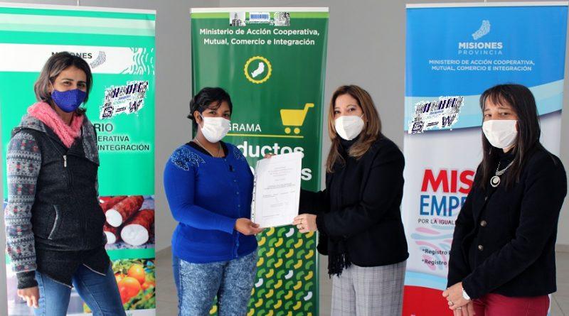 Cooperativa de Trabajo Agricultores Unidos Limitada de la localidad de Eldorado, las matrículas provincial y nacional