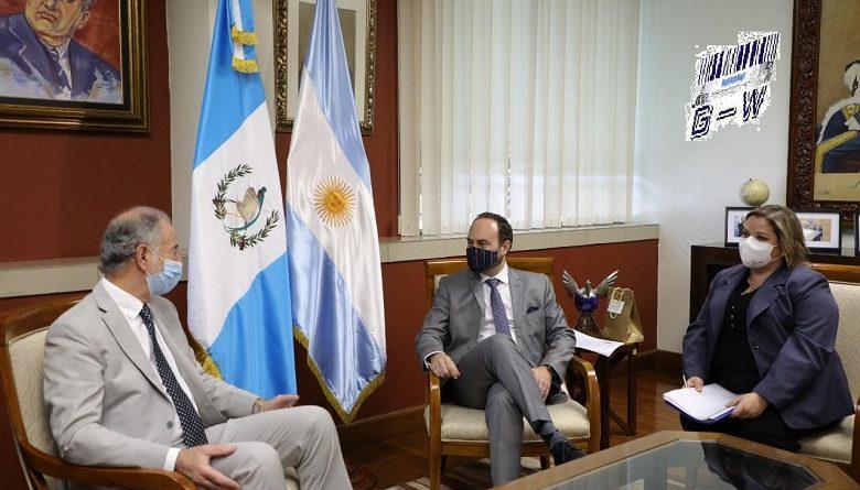 Jorge Neme y el canciller Pedro Brolo