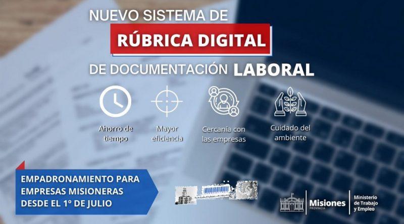 Sistema digital de rúbrica laboral
