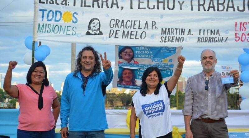 Candidatas y candidatos de la Lista TTT en el Frente de Todos